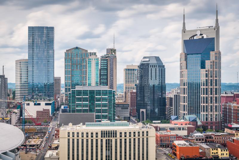 Nashville, Tennessee, paesaggio urbano del centro di U.S.A. fotografia stock libera da diritti