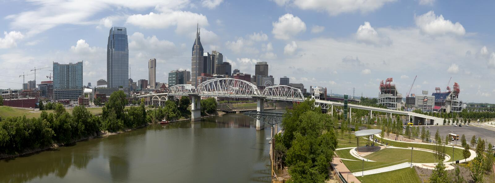 Nashville Tennessee (panoramic) stock image