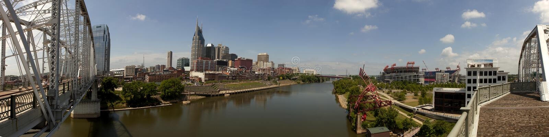 Nashville, Tennessee (panoramisch) lizenzfreie stockbilder
