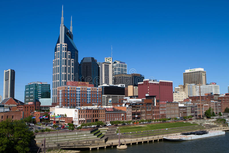 Nashville Tennessee Skyline stock images