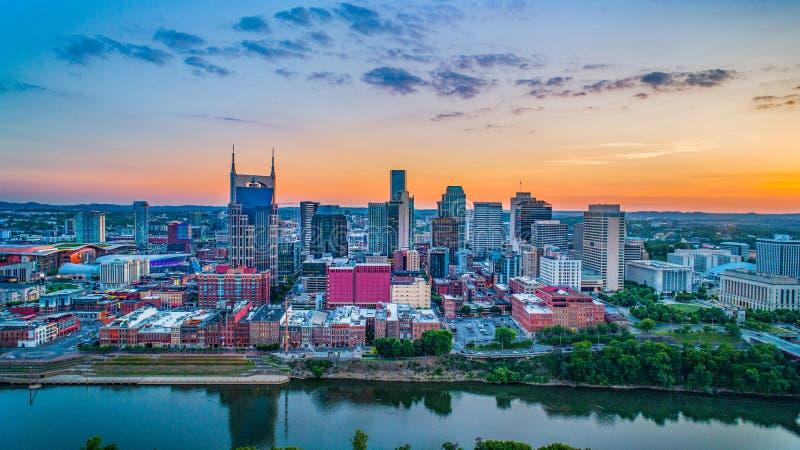 Nashville Tennessee Skyline Aerial photo libre de droits
