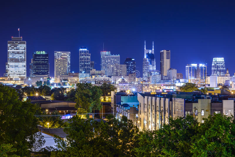 Nashville, Tennessee Skyline royalty free stock image
