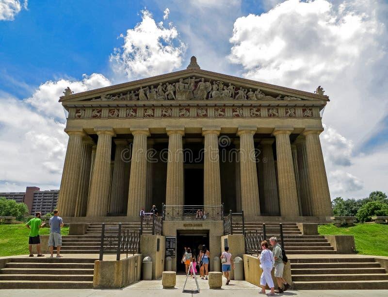 Nashville, TN EUA - parque centenário o museu da réplica do Partenon foto de stock