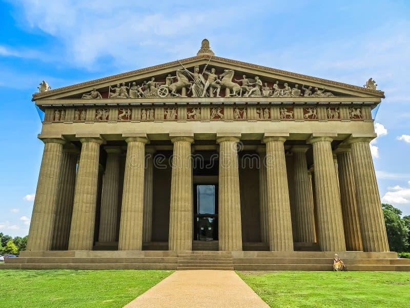 Nashville, TN EUA - parque centenário a réplica do Partenon foto de stock
