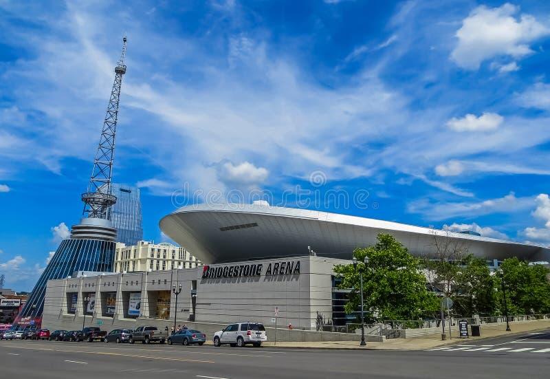 Nashville, TN los E.E.U.U. - arena de Bridgestone - depredadores de Nashville fotos de archivo libres de regalías