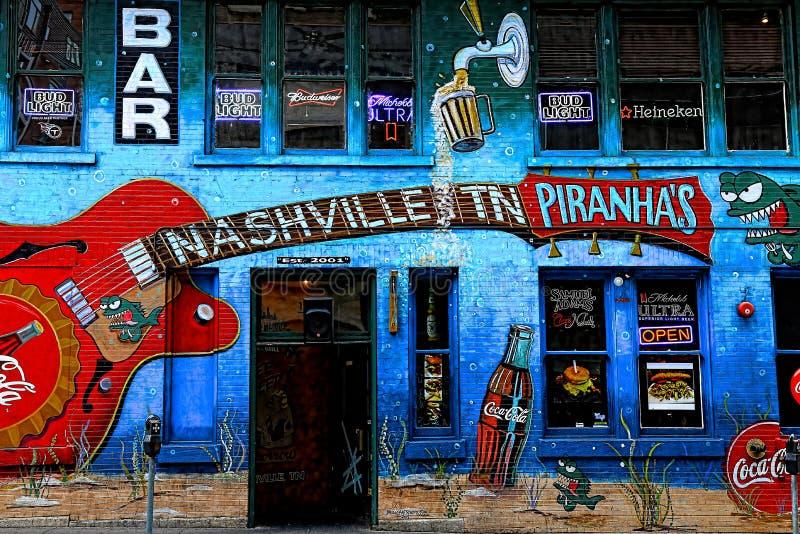 Nashville Tn Piranha ` s Prętowy I grill malowidło ścienne obraz royalty free