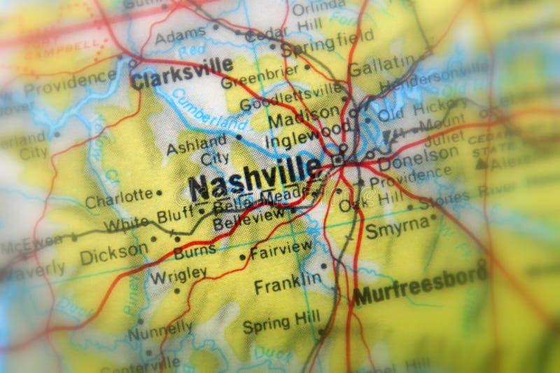 Nashville, una ciudad en el U S imágenes de archivo libres de regalías