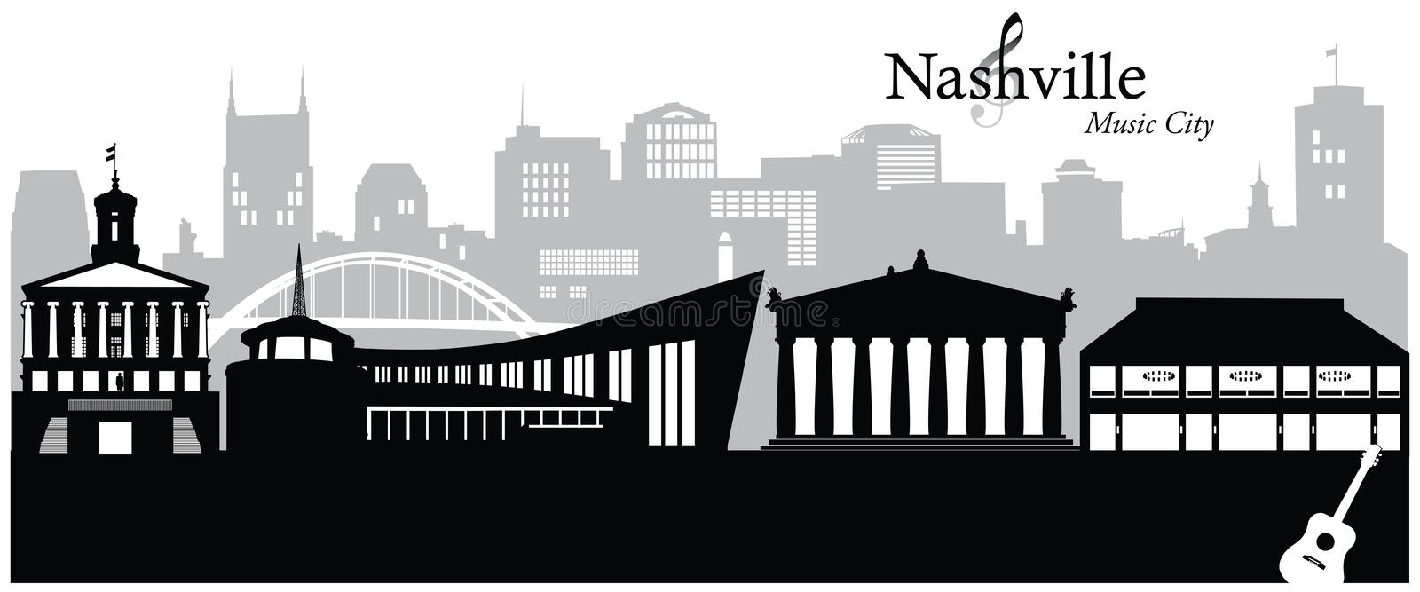 Nashville vector illustration