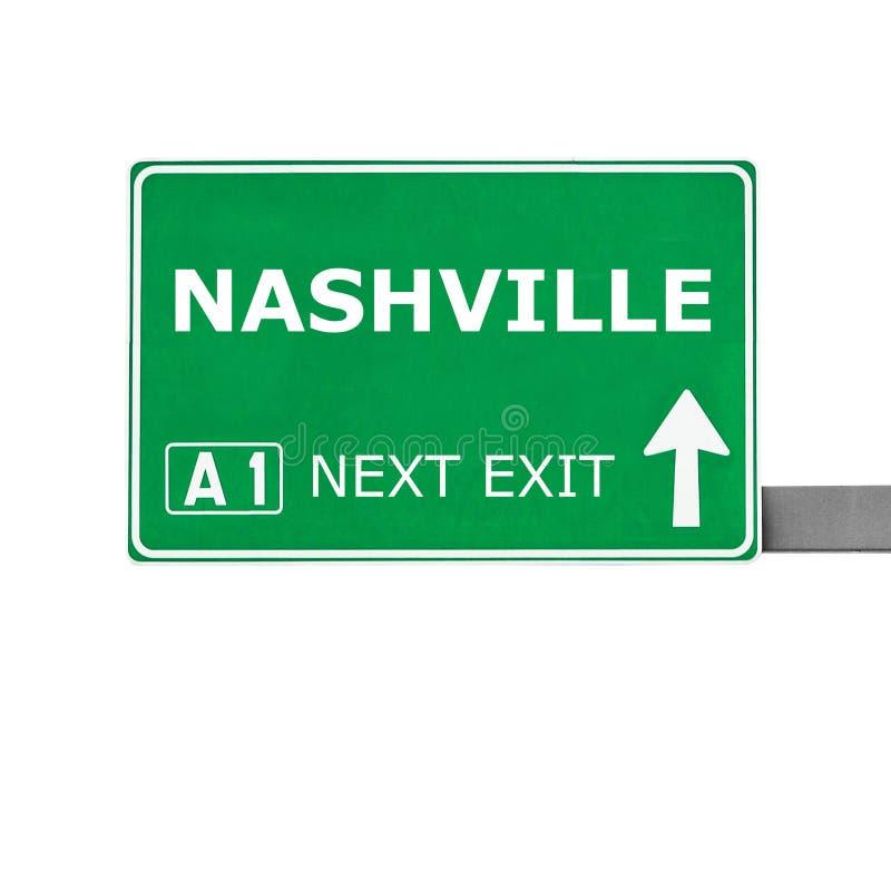 NASHVILLE-Verkehrsschild lokalisiert auf Weiß lizenzfreie stockbilder