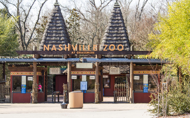 Nashville Zoo. Entrance to the Nashville, Tennessee Zoo stock images