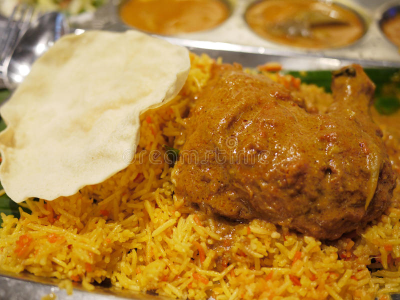 Nasi Biryani. Is a traditional indian cuisine stock image