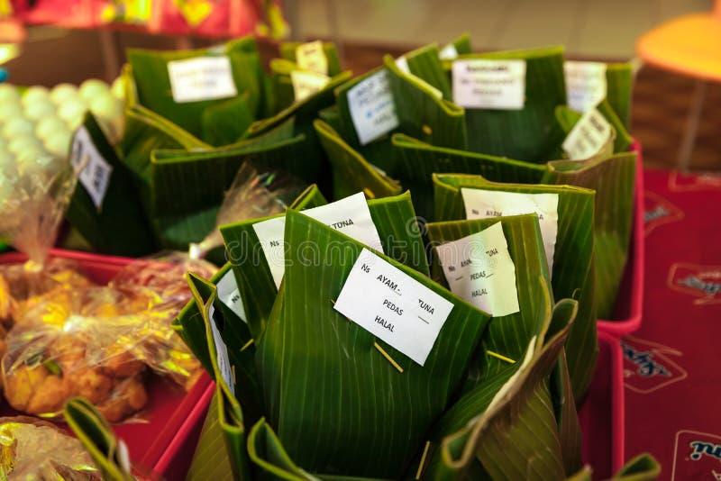 Nasi campur,地方印度尼西亚食物 库存图片