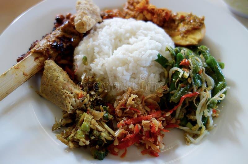 Nasi Campur巴厘岛 库存照片