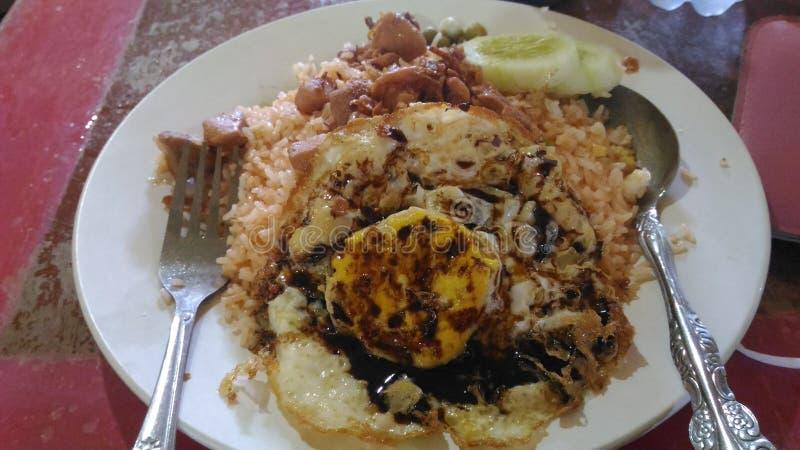 Nasi Goreng (Fried Rice) imagen de archivo libre de regalías