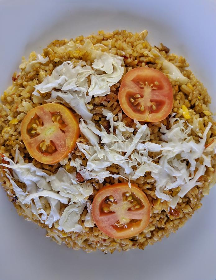 Nasi Goreng is Indonesian famous food for breakfast stock photo