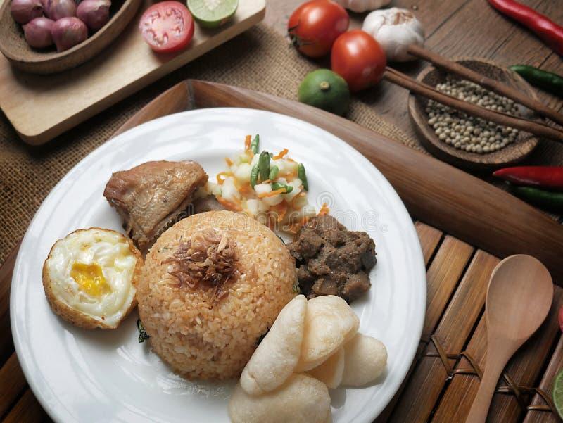 Nasi Goreng, Indonesier Fried Rice stockfoto