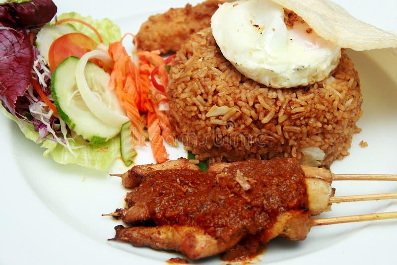 Nasi indonésio Goreng imagem de stock