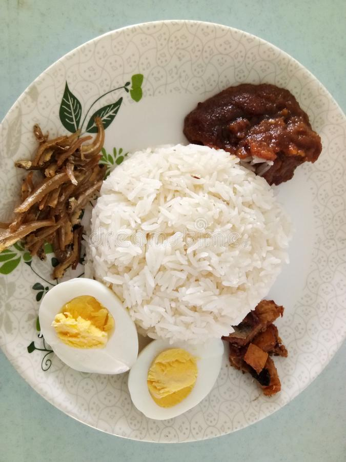 Nasi Lemak photo stock