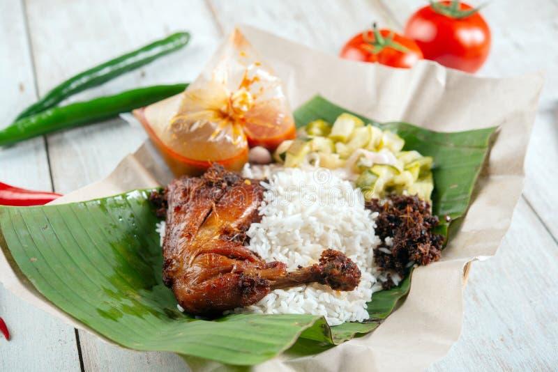Nasi lemak kukus royalty free stock image