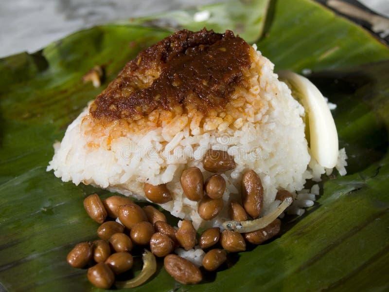 Nasi Lemak Malesia immagini stock