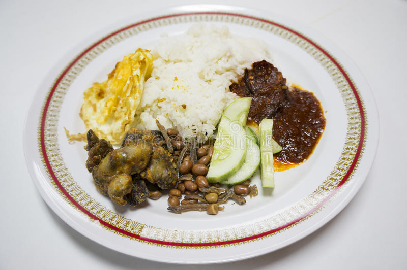 Nasi Lemak. Traditional food of Malaysia stock photography