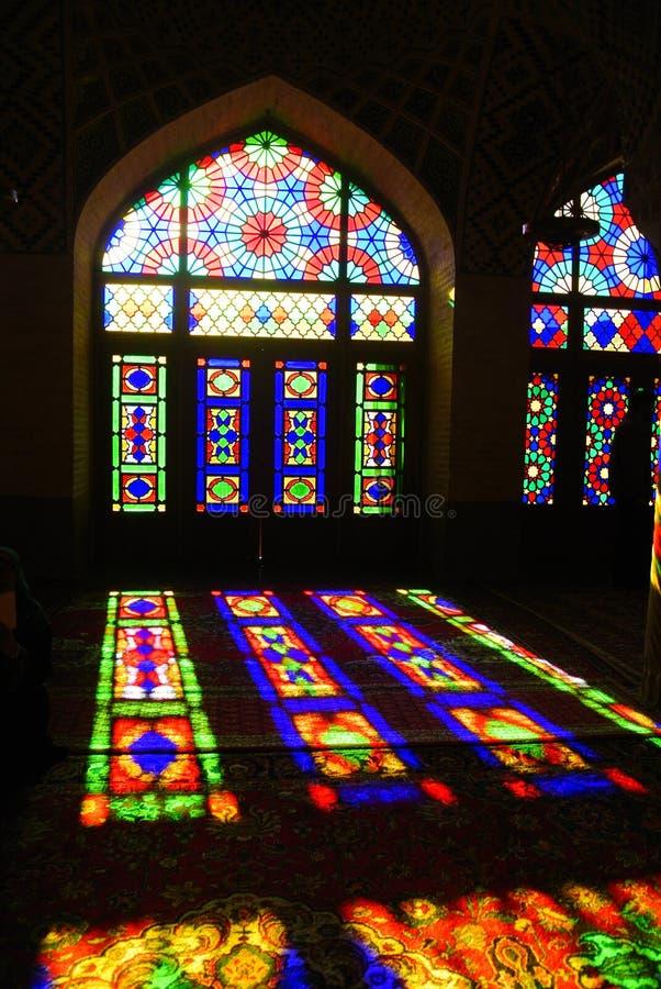 Nasir al-Mulk Mosque em Shiraz, Ir? fotos de stock royalty free