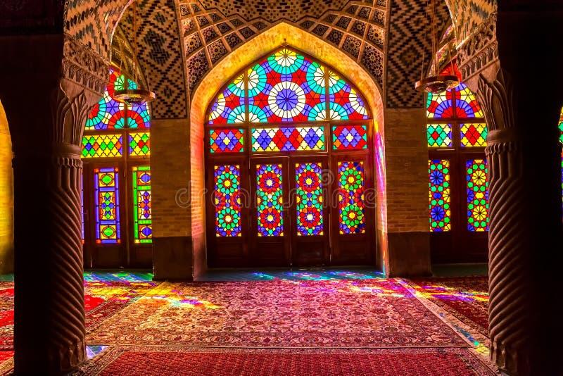 Nasir Al-Mulk Mosque inre arkivbild