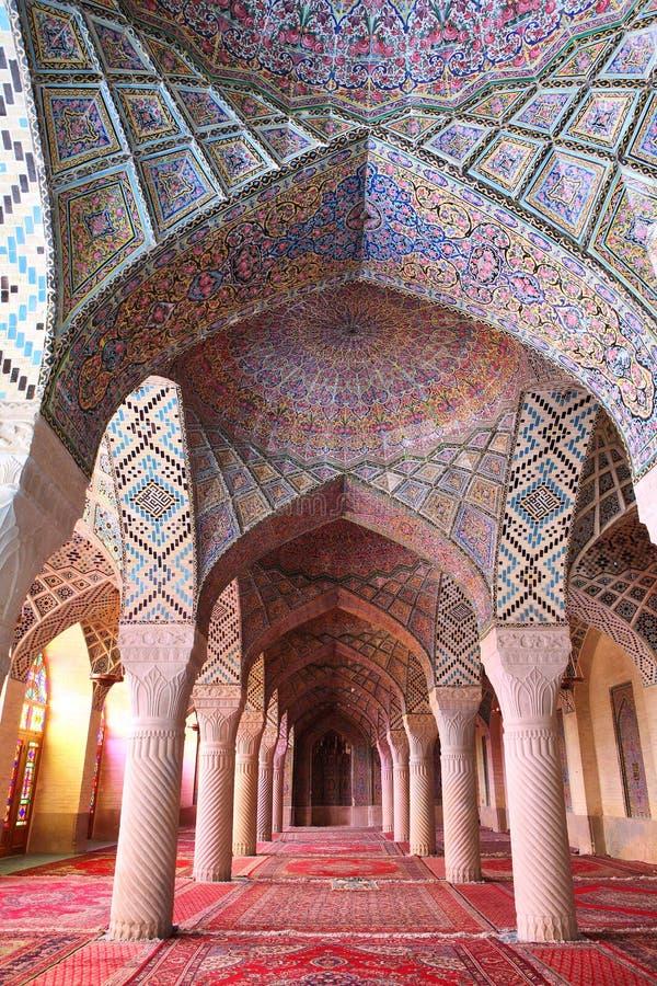 Nasir al-Mulk mosque, Shiraz, Iran stock images
