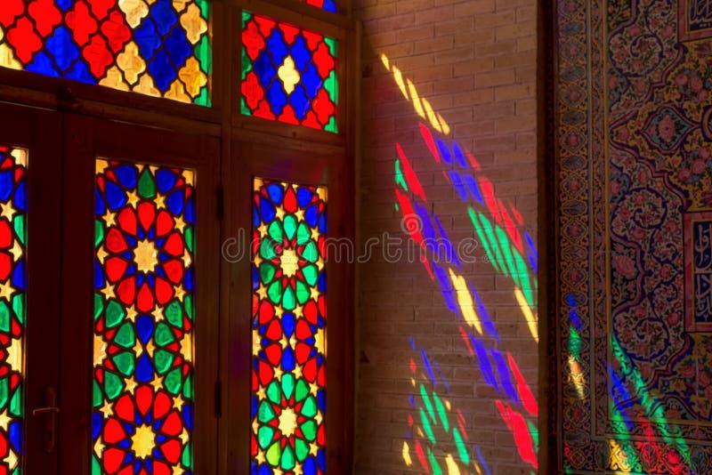 Nasir al-Mulk Mosque in Shiraz, Iran stock fotografie