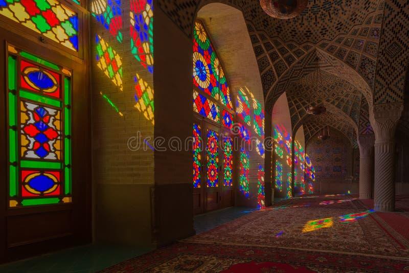 Nasir al-Mulk Mosque in Shiraz, Iran royalty-vrije stock afbeeldingen