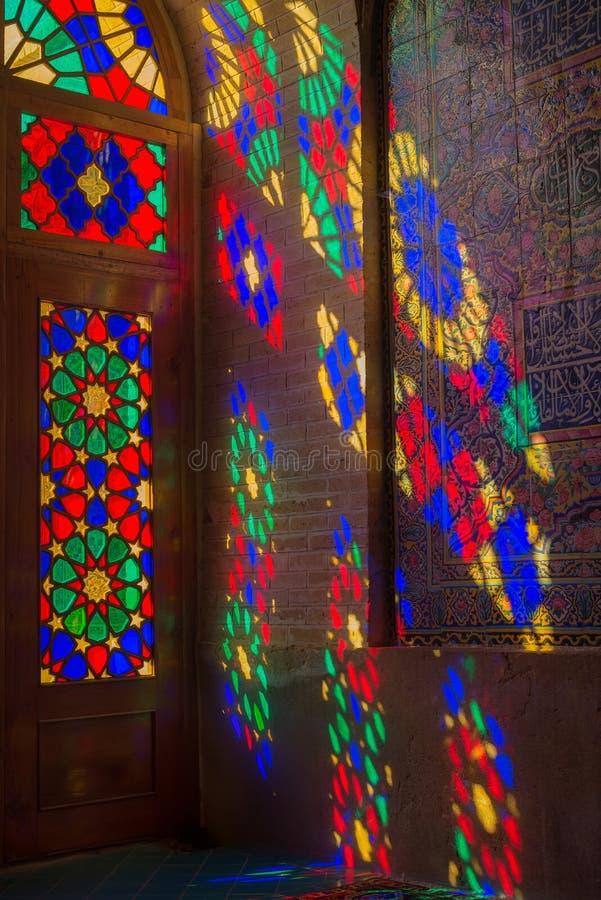 Nasir al-Mulk Mosque in Shiraz, Iran royalty-vrije stock afbeelding