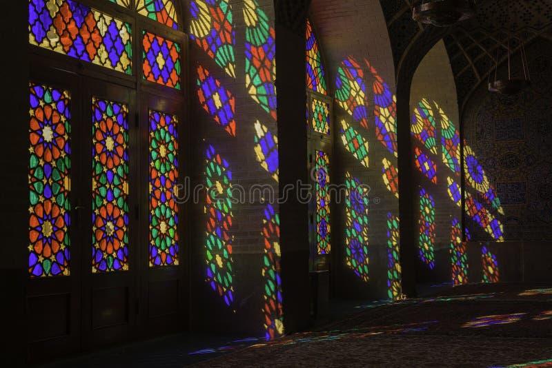 Nasir al-Mulk Mosque in Shiraz, Iran royalty-vrije stock foto's