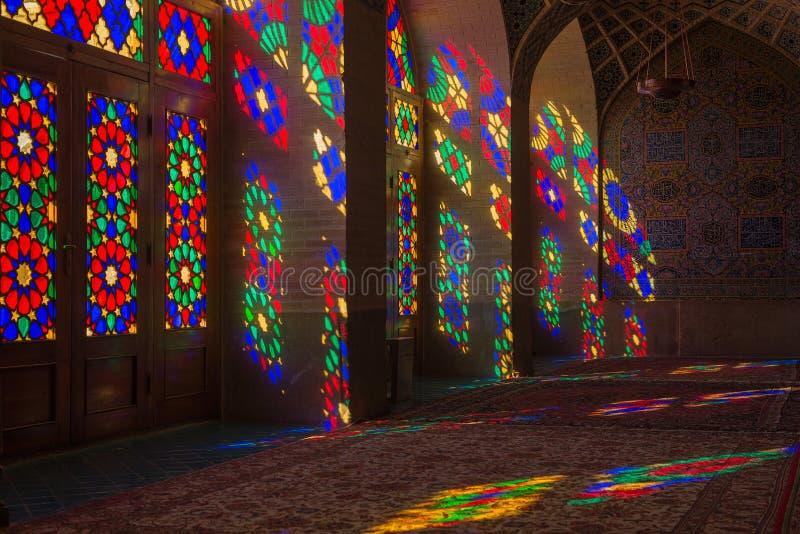 Nasir al-Mulk Mosque in Shiraz, Iran stock foto's