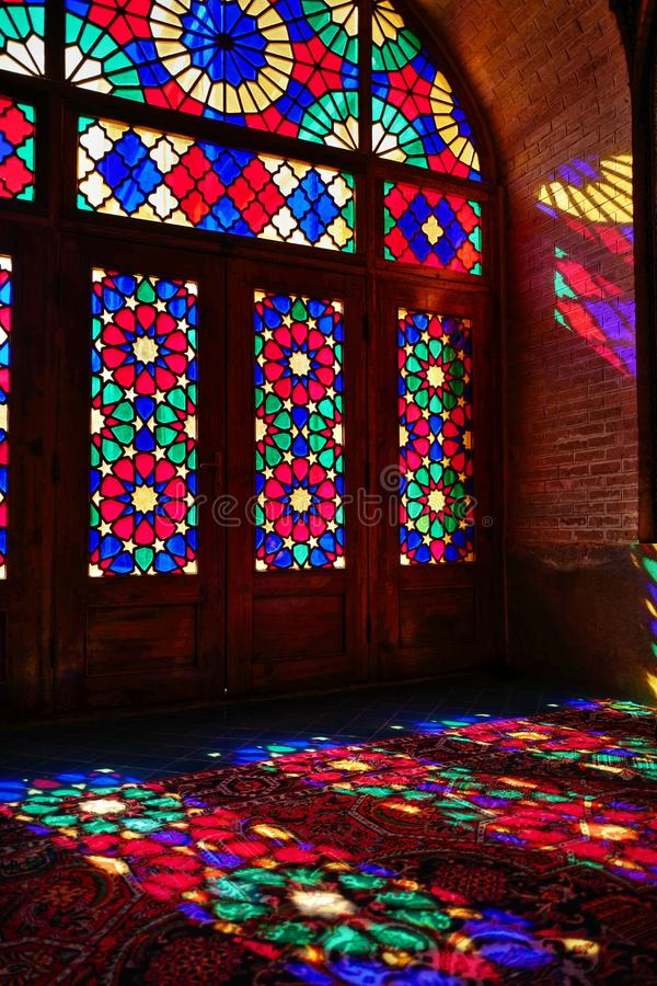 Nasir Al-Mulk Mosque in Shiraz, Iran. Which is also known as Pink Mosque royalty free stock photography