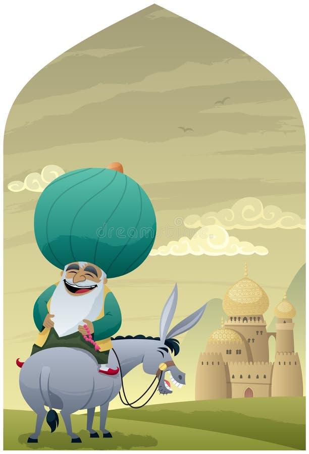 Nasreddin Hodja 2 illustrazione di stock