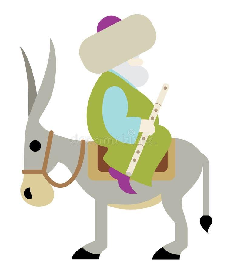 Nasreddin Hodja illustrazione vettoriale