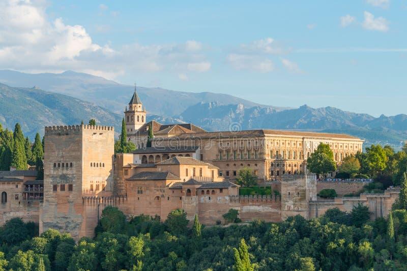 Nasrid Palaces and Palace Charles V, Alhambra, Granada royalty free stock image