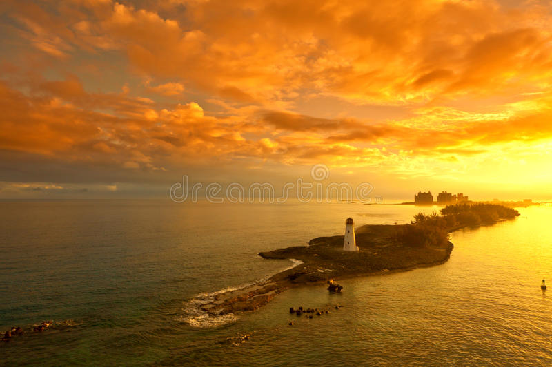 Nassau, bahamas at dawn stock photography
