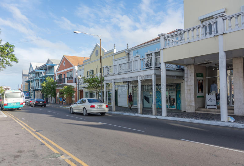 Nassau Bahamas fjärdgata arkivfoton