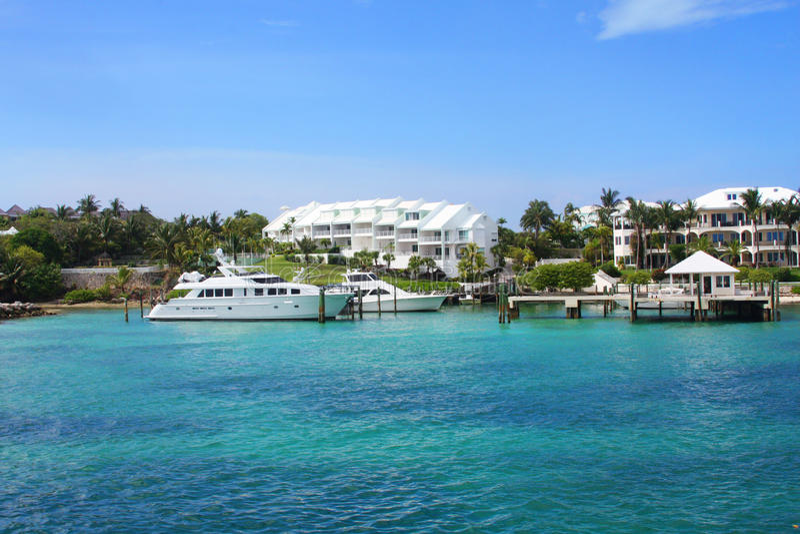 Nassau, Bahamas Oceanfront royalty free stock photography