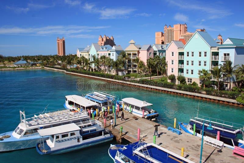 Nassau Bahamas som är karibisk fotografering för bildbyråer
