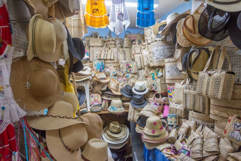 Nassau, Bahamas Straw Market photographie stock