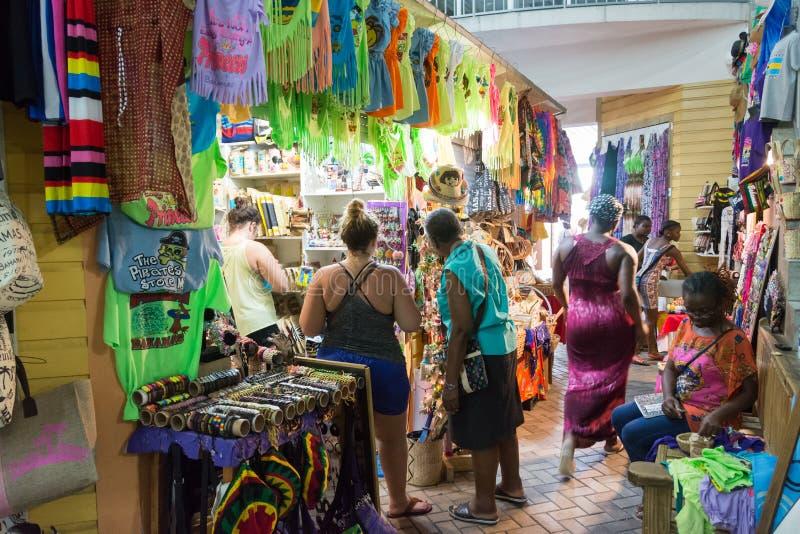 Nassau, Bahamas Straw Market image stock