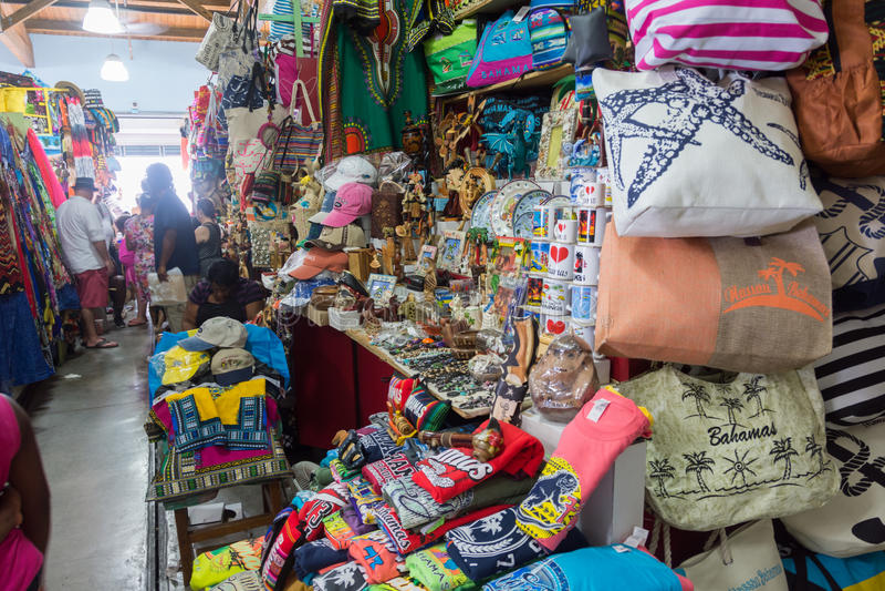 Nassau, Bahamas Straw Market images libres de droits