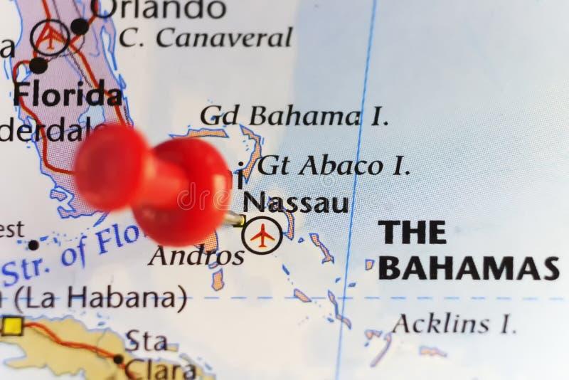 Nassau capital of Bahamas. Copy space available stock illustration