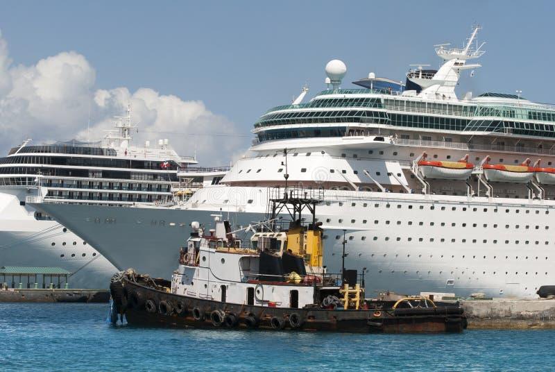 Nassau City Port royalty free stock photo
