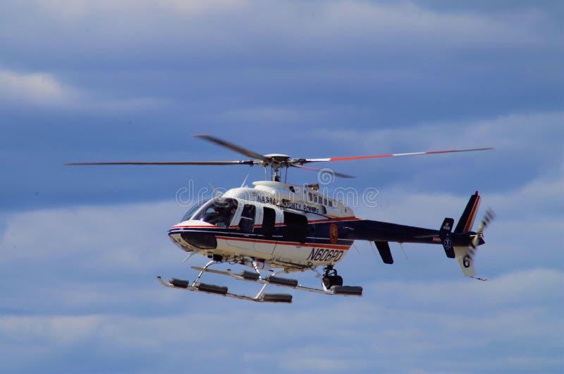 Nassau County NY polishelikopter arkivbild