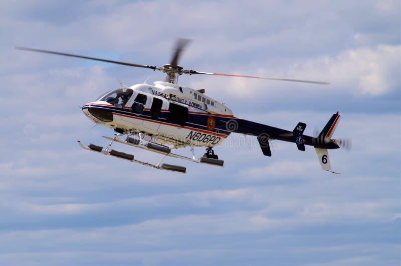 Nassau County NY polishelikopter royaltyfri foto