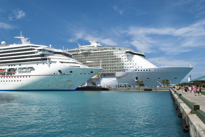Nassau Cruise Ships stock images
