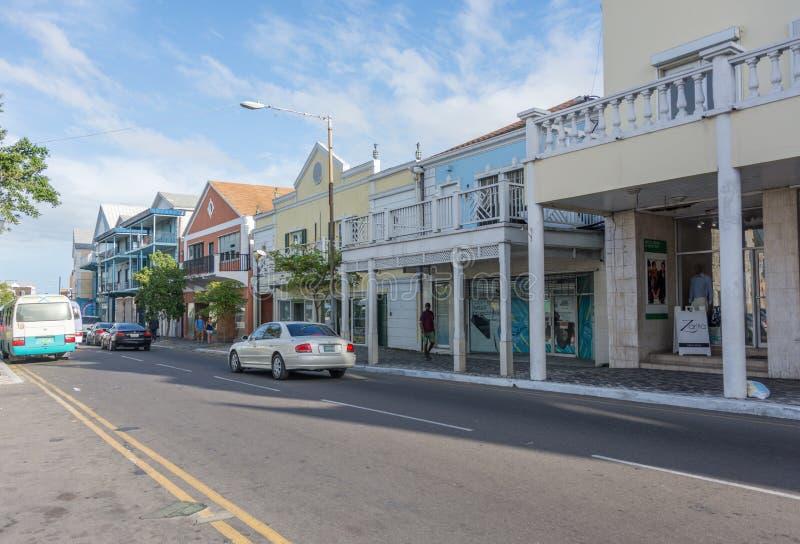 Nassau, de Bahamas Baaistraat stock foto's